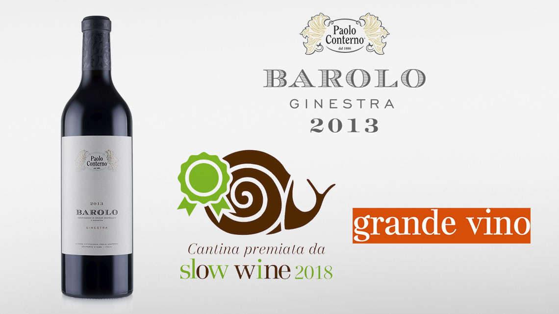 Barolo Ginestra 2013 Slow Wine 2018 Grande Vino Bottiglia