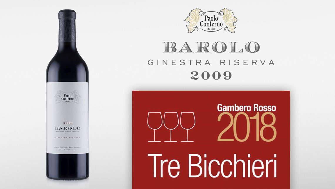 Barolo Ginestra Riserva 2009 Tre Bicchieri Gambero Rosso